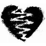 Broken Heart Transparent Grunge Background Drawing Onlygfx