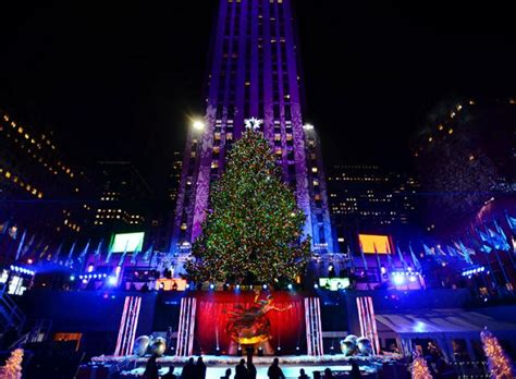 when is the christmas tree lighting nyc rockefeller center christmas tree lights up city ny
