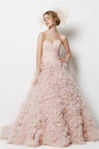 blush pink wedding dress elana walker presents the art With pink dresses for wedding