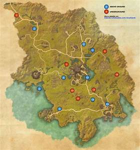 Grahtwood Skyshards Map Elder Scrolls Online Guides