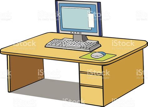 bureau dessin computer on desk stock vector 165689871 istock