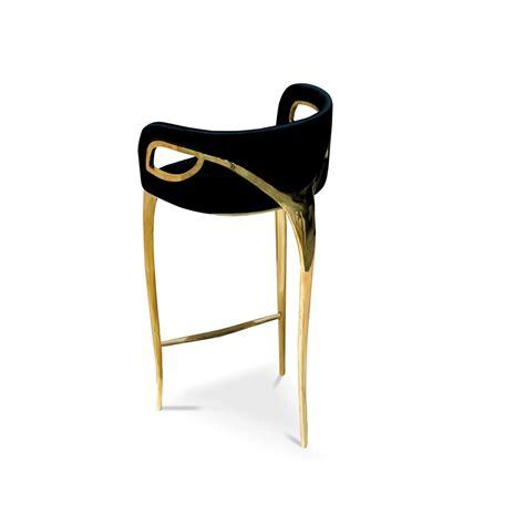 Stool Buy Brass Detailed Opulent Velvet Bar Stool