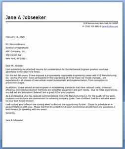 Cover letter mechanical engineer sample resume downloads for Cover letter for mechanical engineer