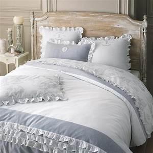 Maison Du Monde Saintes : parure de lit 220 x 240 cm en coton blanche raphael ~ Melissatoandfro.com Idées de Décoration