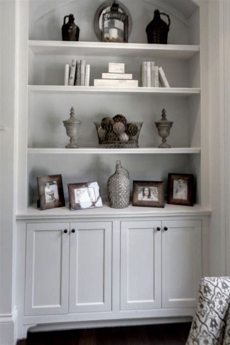shelves  cabinet   fireplace living room built