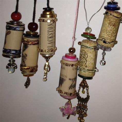 christmas ornaments  wine corks   broken jewelry