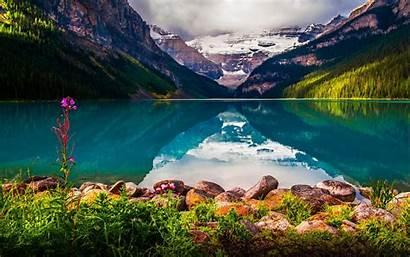 Louise Lake Desktop Park Rockies Canadian Wallpapers