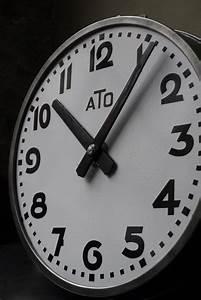 Grande Horloge Industrielle : ancienne grande horloge de gare ato cadran emall ~ Teatrodelosmanantiales.com Idées de Décoration