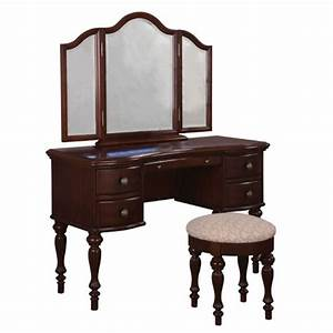 Shop Powell Cherry Makeup Vanity at Lowes com