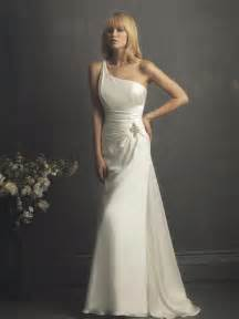 wedding dresses chicago ivory one shoulder beaded column sheath simple unique 2011 wedding dress prlog