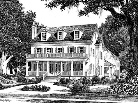 southern plantation house plans eplans plantation house plan colonial lake cottage from