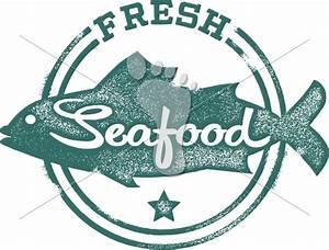 Fresh Seafood Restaurant Vector Menu Stamp | StompStock ...