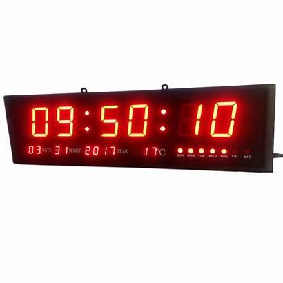 Clock Digital Timer Wall Led Calendar Living