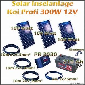 Leistung Watt Berechnen : 300w 12v solar inselanlage profi koi als komplettset g nstig im online shop kaufen ~ Themetempest.com Abrechnung