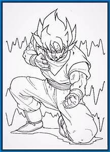 Imagenes de Pintar de Dragon ball z para Colorear Imagenes de Dragon Ball