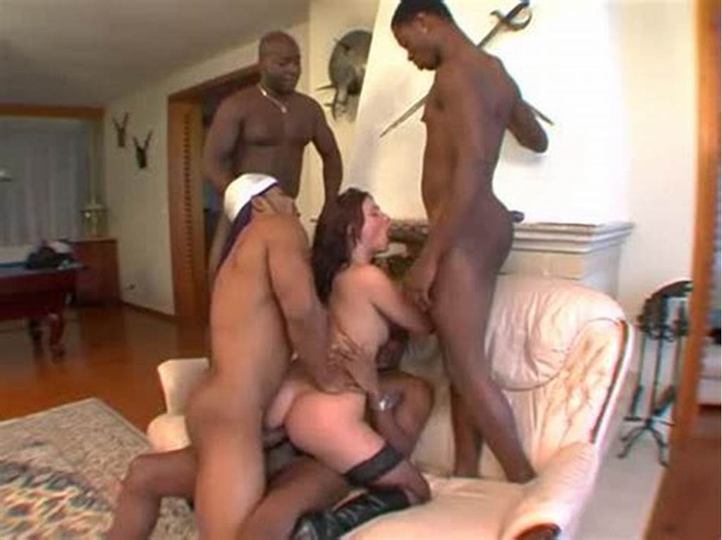 #Stockings #Slut #Interracial #Gangbang #With #Creampies