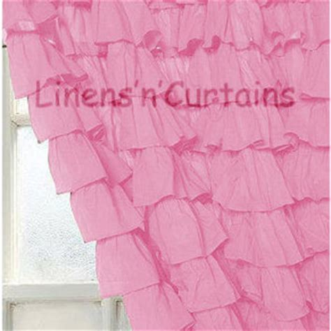 Pink Ruffled Window Curtains by Shop Pink Ruffle Curtains On Wanelo