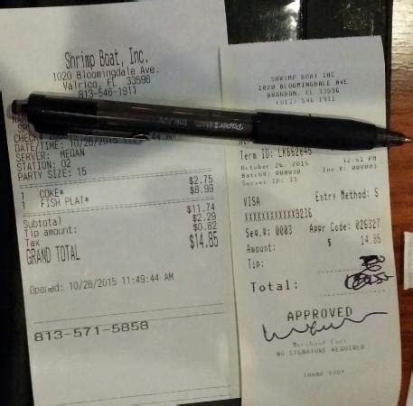 Shrimp Boat Grill Reviews by Deceptive Billing They Lure Guests To Leave Tips
