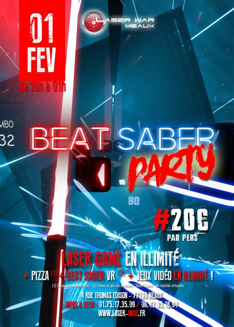 beat saber party laser war