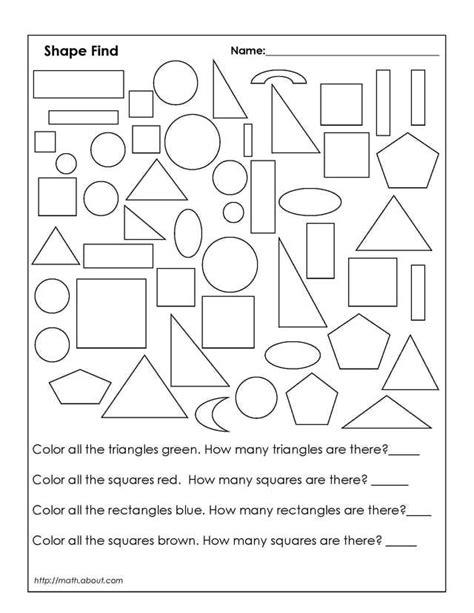 Color Shapes Worksheet  Coloring Home