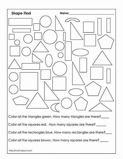 Shapes Grade Geometry Worksheets Worksheet Second 2nd