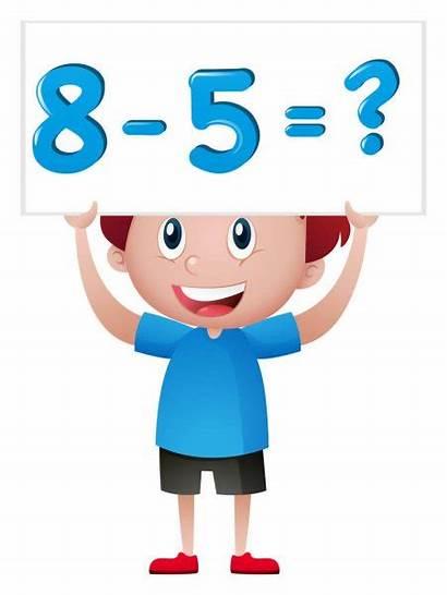 Math Problem Boy Subtraction Illustration Clip Sign