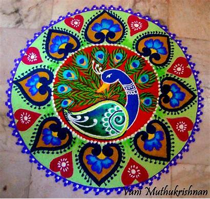 Rangoli Patterns Pattern Kolam Designs Diwali Peacock