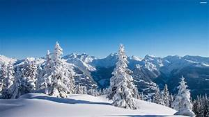 Beautiful View Over The Mountains In Winter