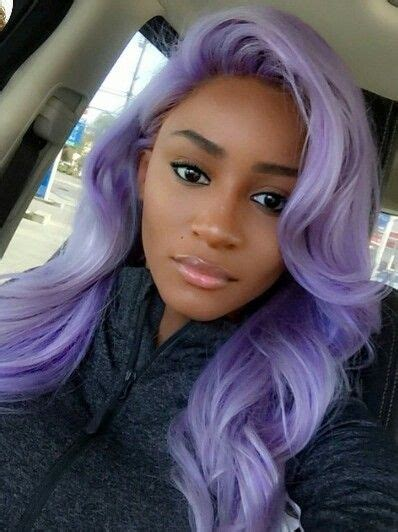 Purple Hair Hair Color For Dark Skin Cool Hair Color