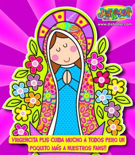 virgen porfis en caricatura imagui is free religious paintings mexican pattern y