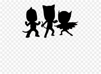 Pj Mask Masks Clip Silhouette Coloring Nohat