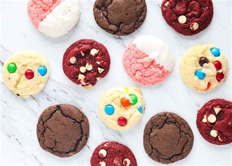 ingredient cake mix cookies  ways  heart naptime