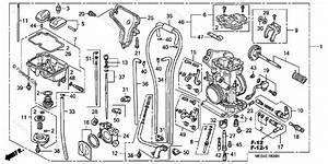 Honda Motorcycle 2002 Oem Parts Diagram For Carburetor