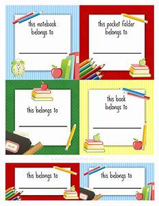Free back to school book labels for kids kids school for Free school labels template