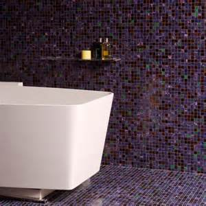 mosaic tiled bathrooms ideas floor to ceiling purple mosaic bathroom tiles bathroom tile ideas housetohome co uk