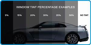 Window Tint Percentages Examples