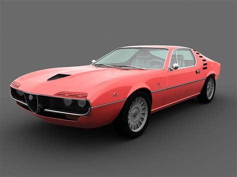 Alfa Romeo Montreal 1970 3D Model MAX   CGTrader.com