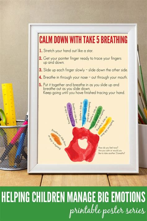 calm down breathing emotions managing exercise take manage children poster printable steps anger anxiety coping feelings calming deep yoga strategies