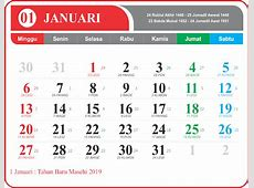 Download Kalender 2019 Jawa PNG Full HD Lengkap