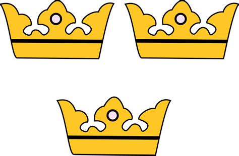 File:Sweden greater arms three crowns.svg - Wikimedia Commons