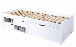 Bett 90x200 Weiß Mit Schubladen : kinderbett varum 90 x 200 kiefer massiv wei lackiert mit schubladen ~ Bigdaddyawards.com Haus und Dekorationen