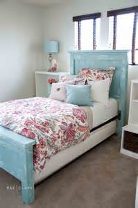 ana white twin farmhouse bed a beachy ish version