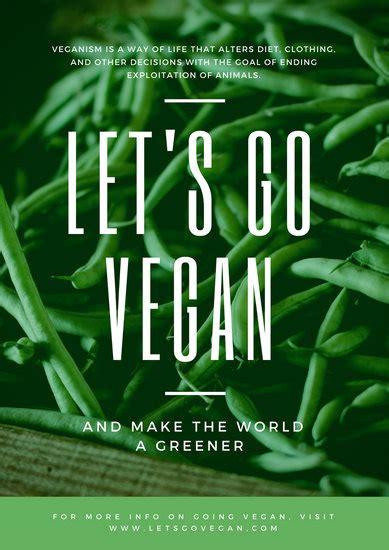 customize  vegetarian vegan poster templates