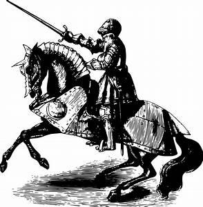 Clipart - Knight on horseback 4