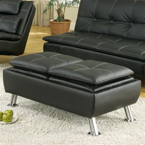 hton leather reversible sectional and storage ottoman coaster ottomans faux leather ottoman with reversible tray