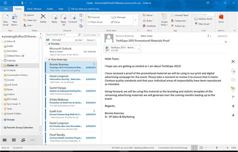 outlook 2016 email review in office 2016 for windows collaboration takes center stage computerworld