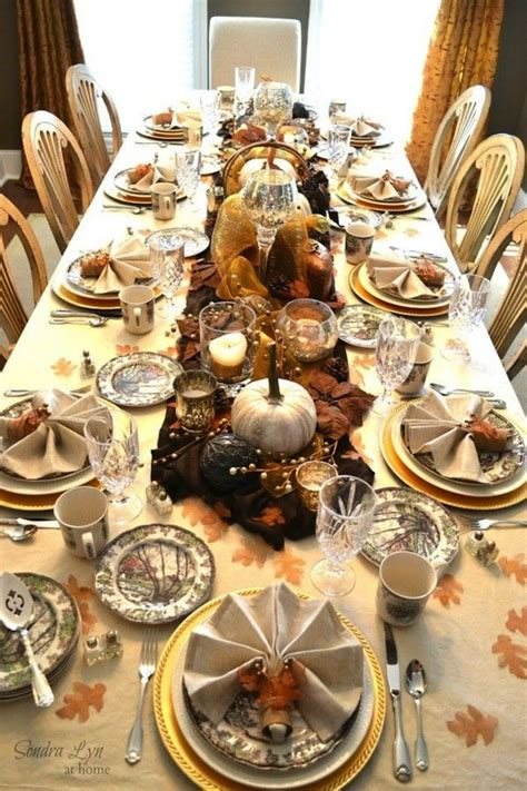 thanksgiving dining table setting ideas thanksgiving
