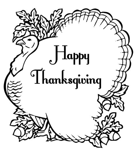 printable thanksgiving coloring pages  kids