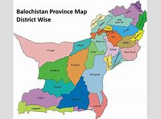 Balochistan Province List of Tehsils, Districts and