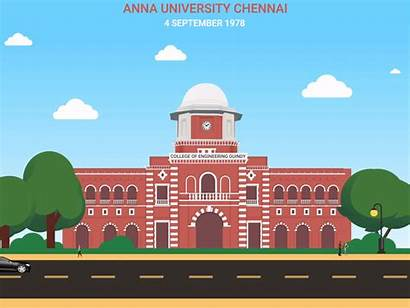 Anna University Campus Ceg Vector Chennai Dribbble
